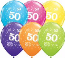 50th Birthday - 11 Inch Balloons 25pcs